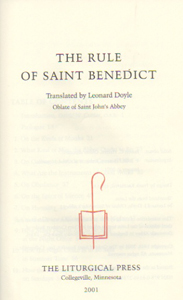 St Benedict, Rule, Regula