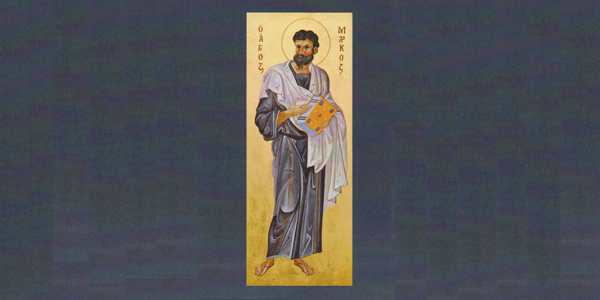Saint Mark, icon by the hand of Monica Thornton